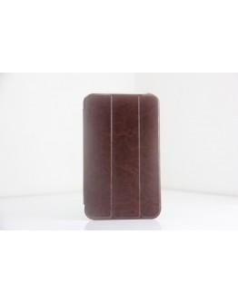 Husa protectie Smart Cover stil business pentru Samsung Galaxy Tab 3 7.0 T210/T211/P3200 - maro